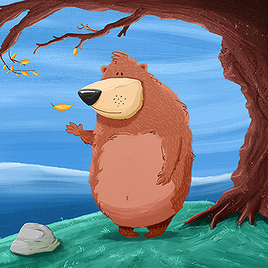Bear character Illustration