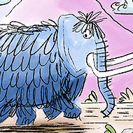 Blue Mammoths Illustration