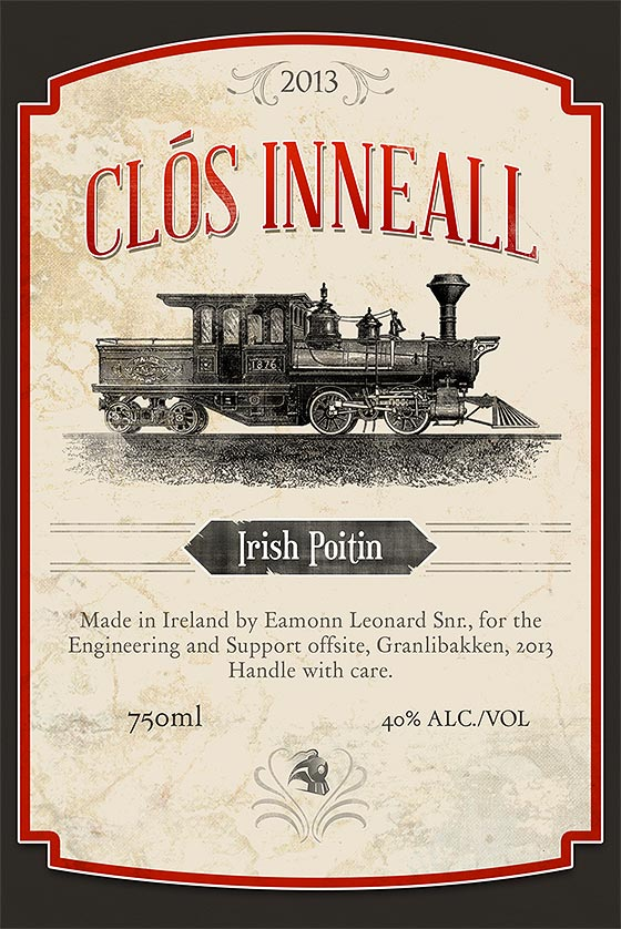 clós inneall whiskey label lefft paddy donnelly
