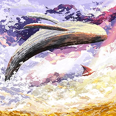 Cloud Whale Illustration