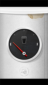Coffee Gauge iPhone Wallpaper