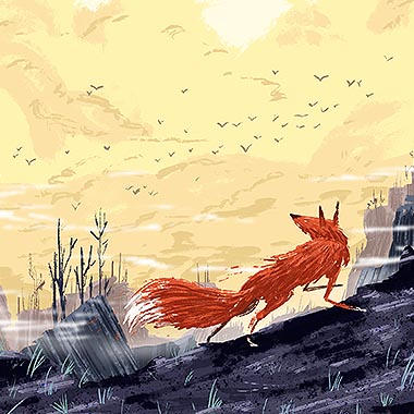 Fox Forest Illustration