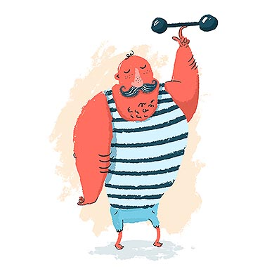 Strongman Illustration