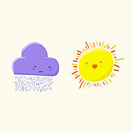 Sun & Cloud Illustration